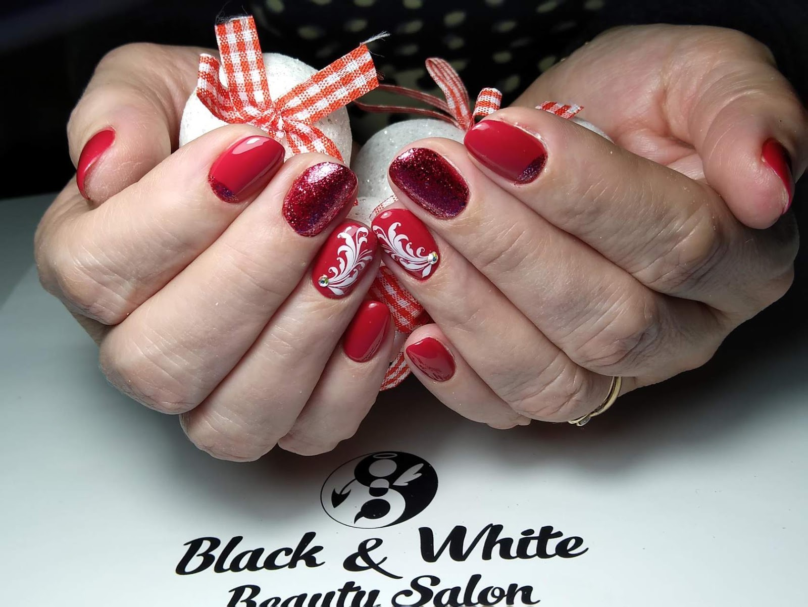 Black & White Nails Art Disign: Nail Salon Totowa Nj