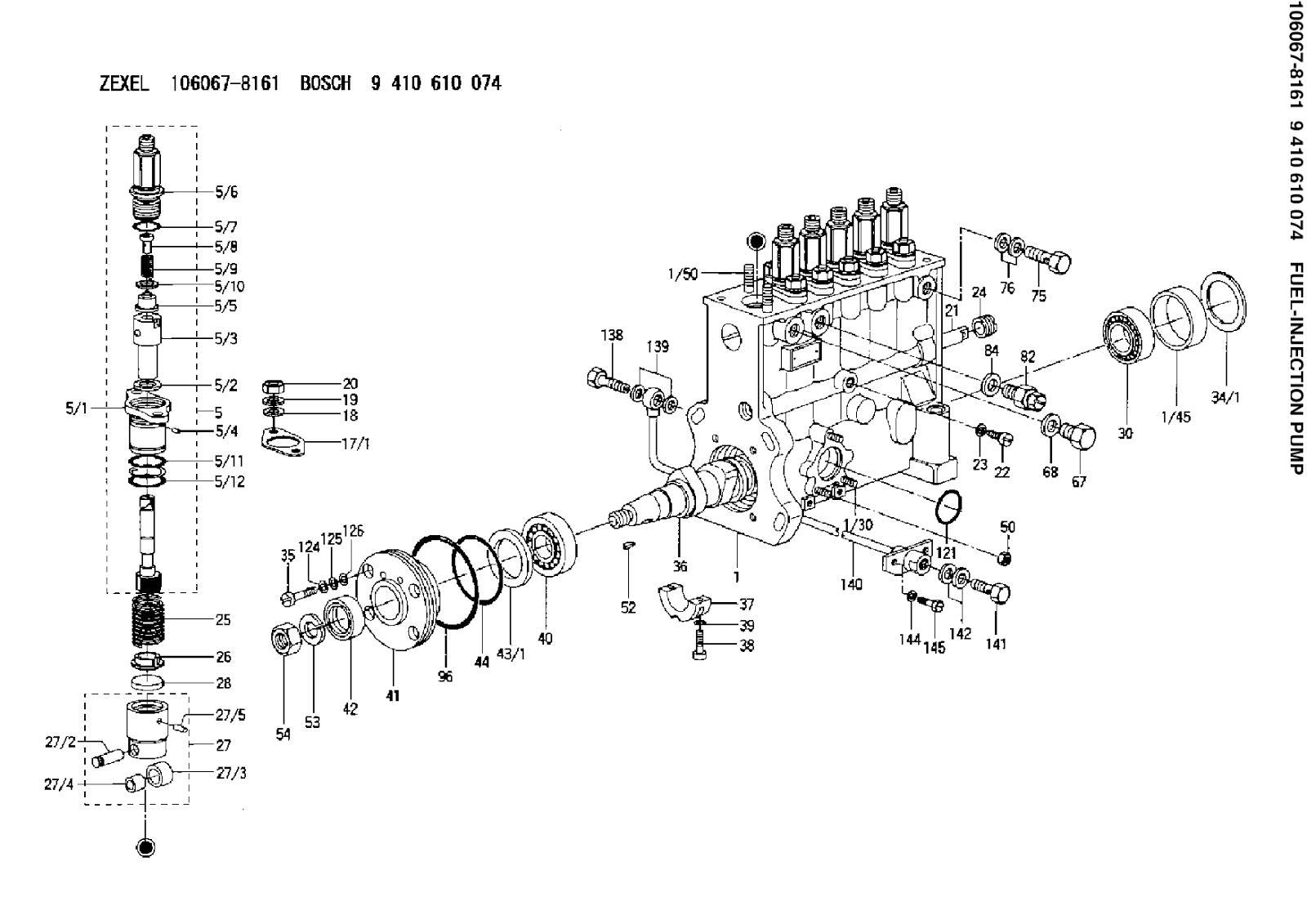 9410610074 106067 8161 injection pump zexel bosch  [ 1600 x 1131 Pixel ]