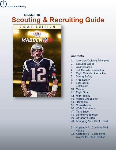 reboot christianity: Madden 18 Scouting and Draft Guide is