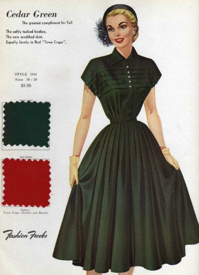 Fashion Frocks Style Card 1953