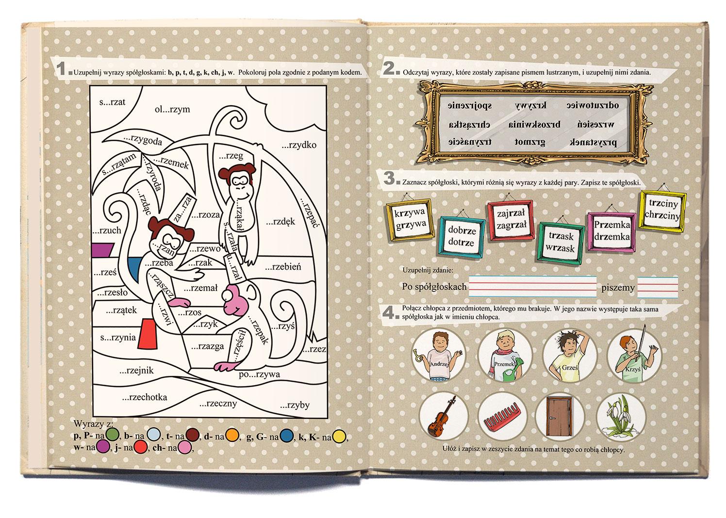 ilustracja dla dzieci do ćwiczeń kolorowanki nowa era Urbaniak ilustratorka