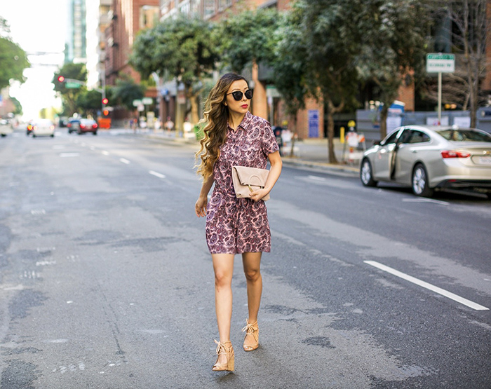 Banana republic spring essential, prada sunglasses, banana republic paishley utility romper , sole society clutch, jeffrey campell wedges,spring outfit ideas, san francisco fashion blog, san francisco street style