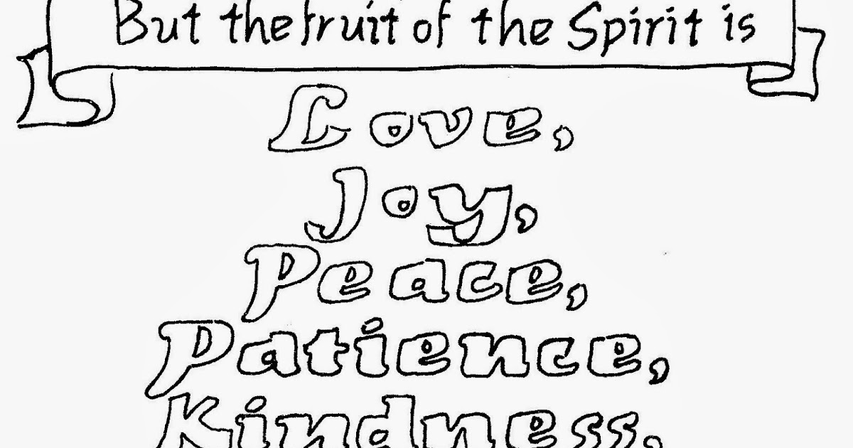 Coloring Pages For Kids By Mr Adron Free Fruit Of The Spirit 1 Peter Page Galatians Printable