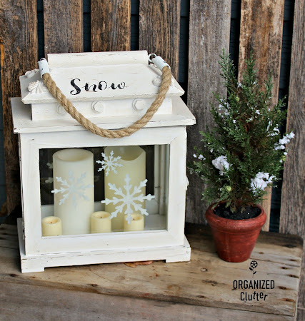 Stenciling Snowflakes On A Lantern