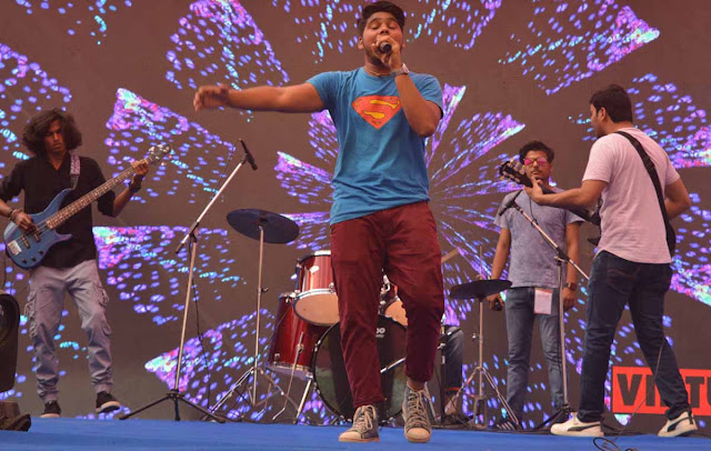 D.A.V College students show talent in song-music-fashion competition