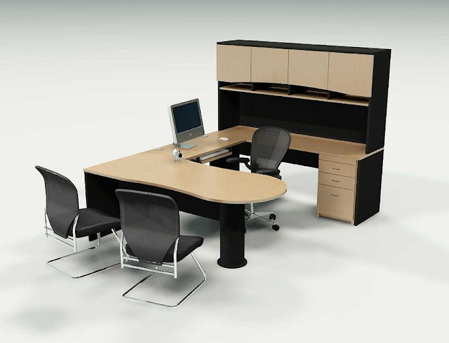best buy u shaped office desk furniture Near Me with hutch for sale