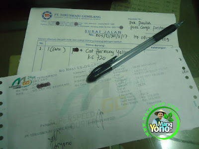 Surat Jalan dan Tanda Terima Paket MGo