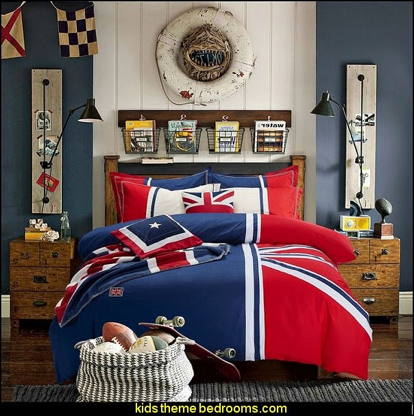Cotton Fabric Britain Flag Bedding