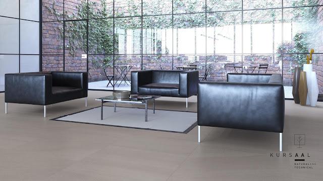 Outside floor tiles design Kursaal series can even use for living room