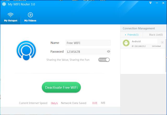 Menu Membuat Hotspot Pada My WIFI Router
