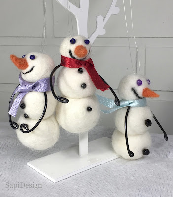 lumiukko huovutus joulu piensarja SapiDesign