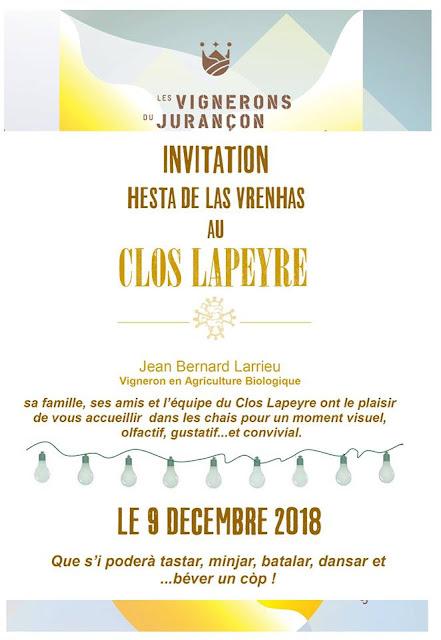 Journée Portes Ouvertes en Jurançon 2018 Domaine Lapeyre