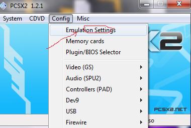 settings emoticon pcsx2