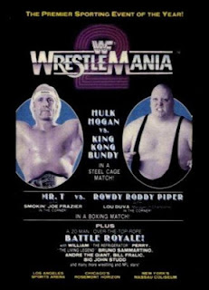 WWF / WWE WRESTLEMANIA 2 - EVENT POSTER