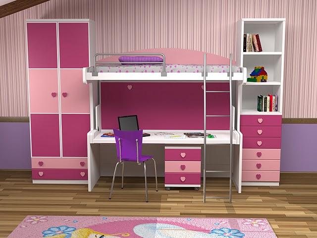 Decoracion dormitorios juveniles peque os habitaciones - Litera con escritorio debajo ...