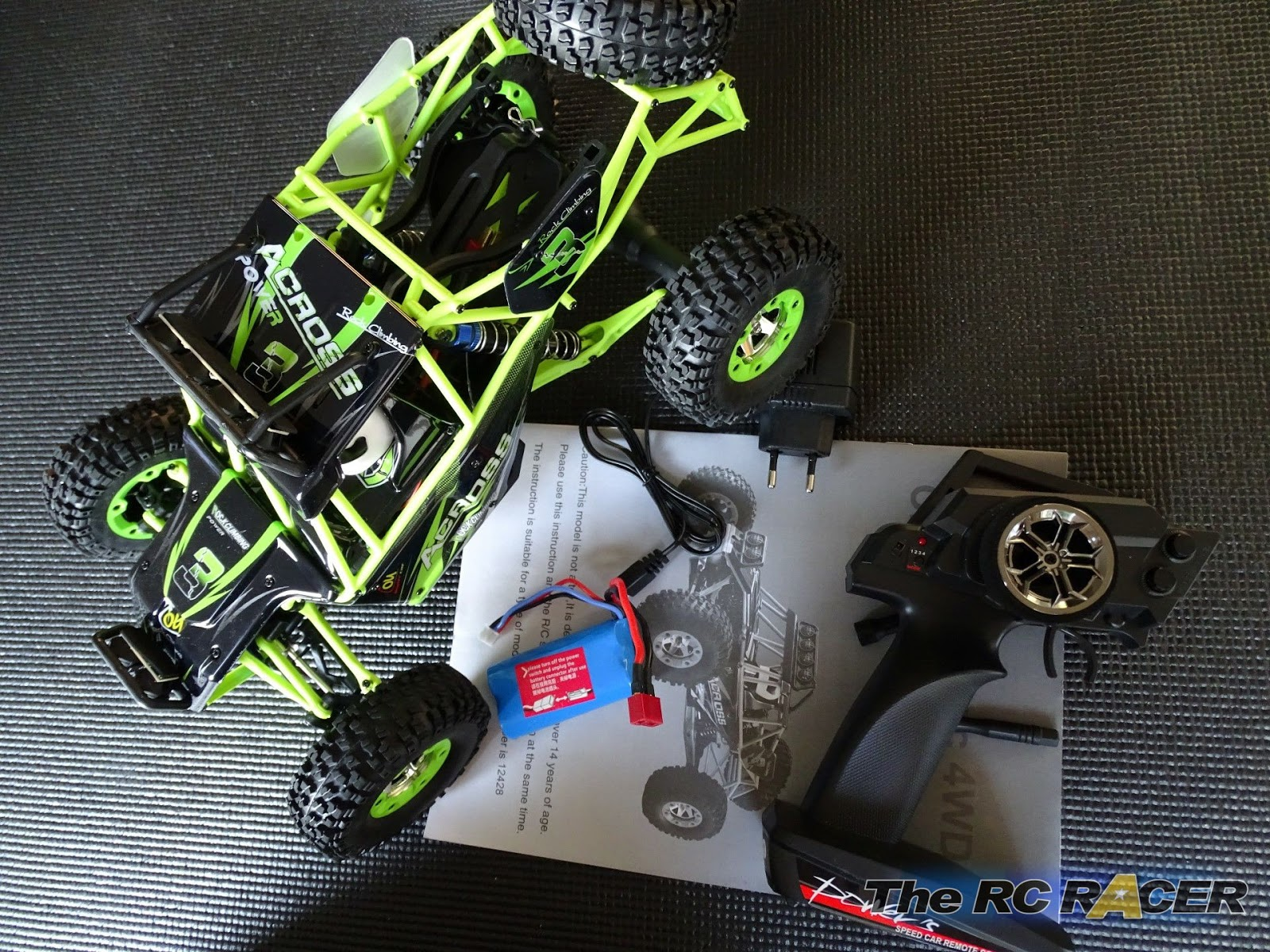 Wltoys 12428 Across 24ghz 4wd Off Road Vehicle Review The Rc Racer Tips On Powering Servos Receivers Radios And Vehicles With Lipos Whats In Box
