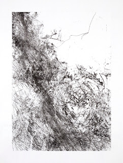 Monotype sur papier © Annik Reymond