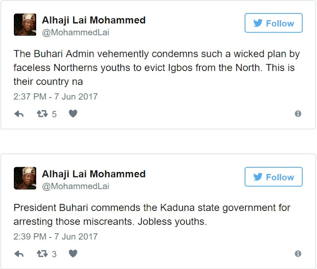 Buhari commends El-Rufai for ordering arrest of those asking Igbos to vacate North
