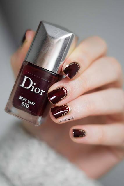 vernis Dior nuit 1947 nail art