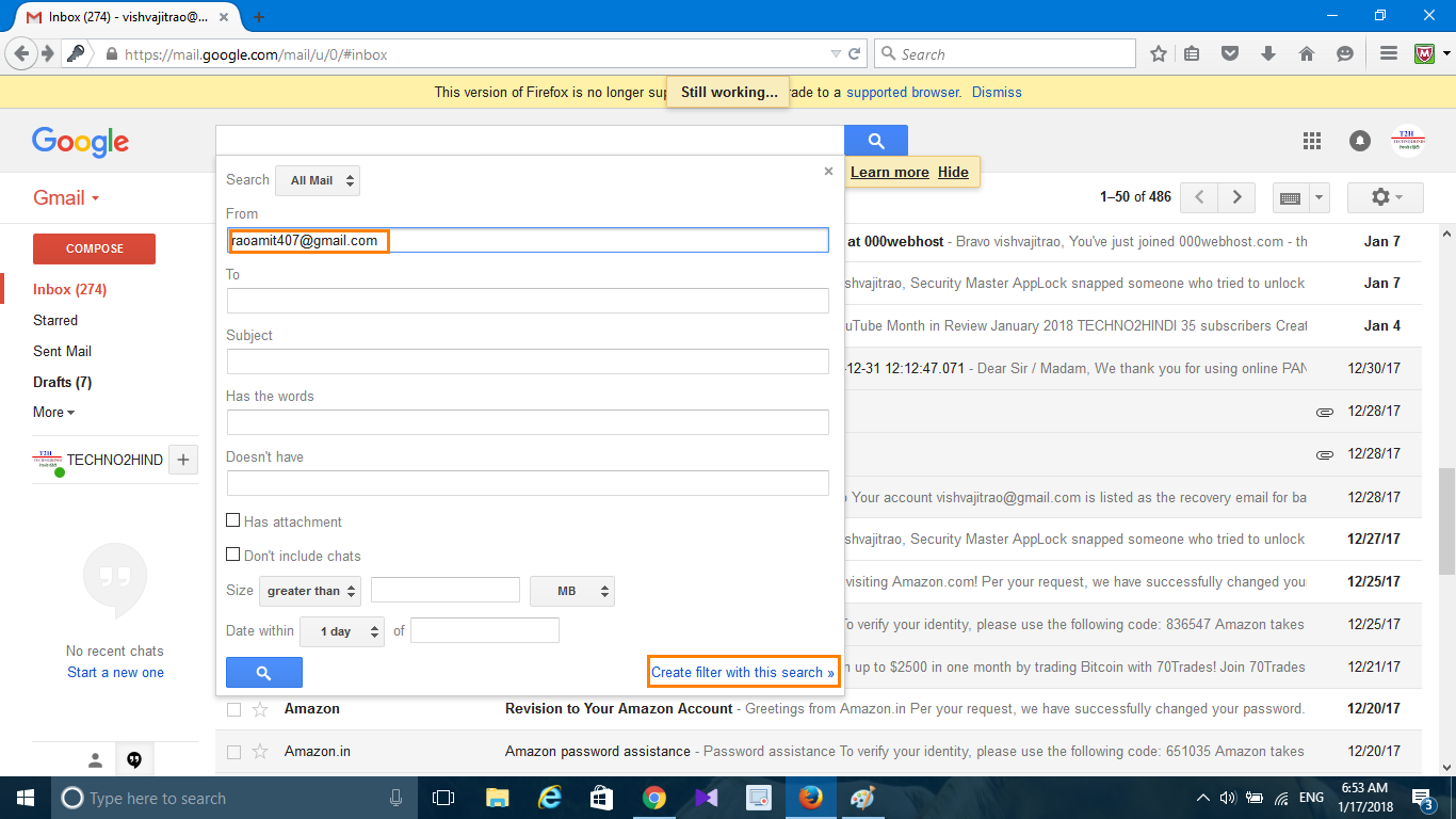how to delete gmail id