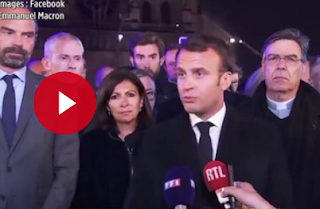 """Incendie à Notre-Dame : """"Cette cathédrale, nous la rebâtirons ensemble"""", promet Emmanuel Macron"""