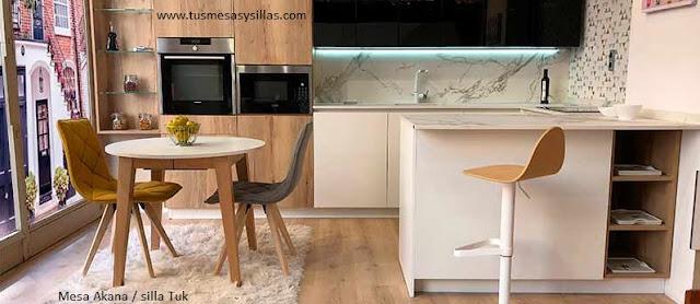 Distintos modelos de mesas redondas para cocina o comedor   mesas de ...