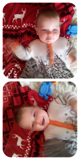 homemade sensory, scarf on baby