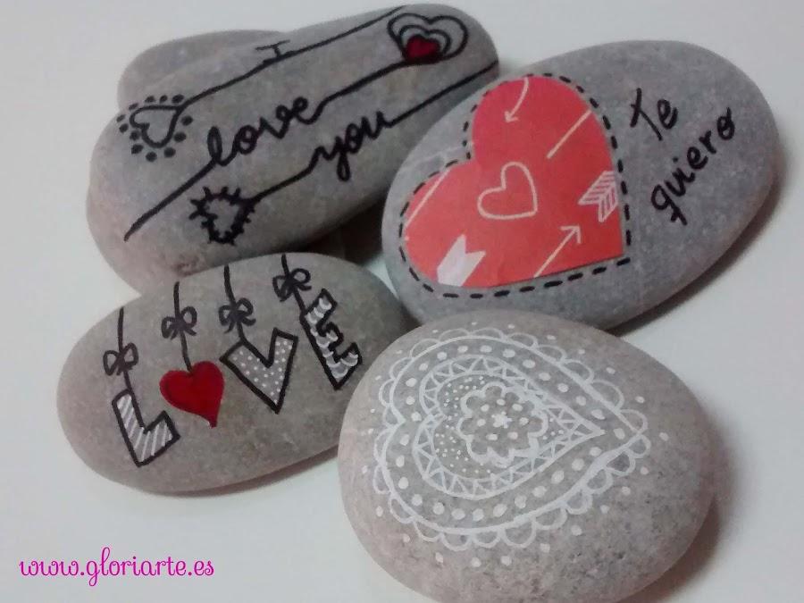 decoración de piedras con rotulador