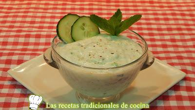 Receta salsa tzatziki (salsa de yogurt y pepino)