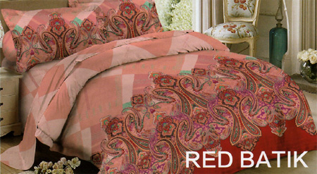 Sprei Red Rose Red Batik
