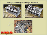 breaking aluminum engine block