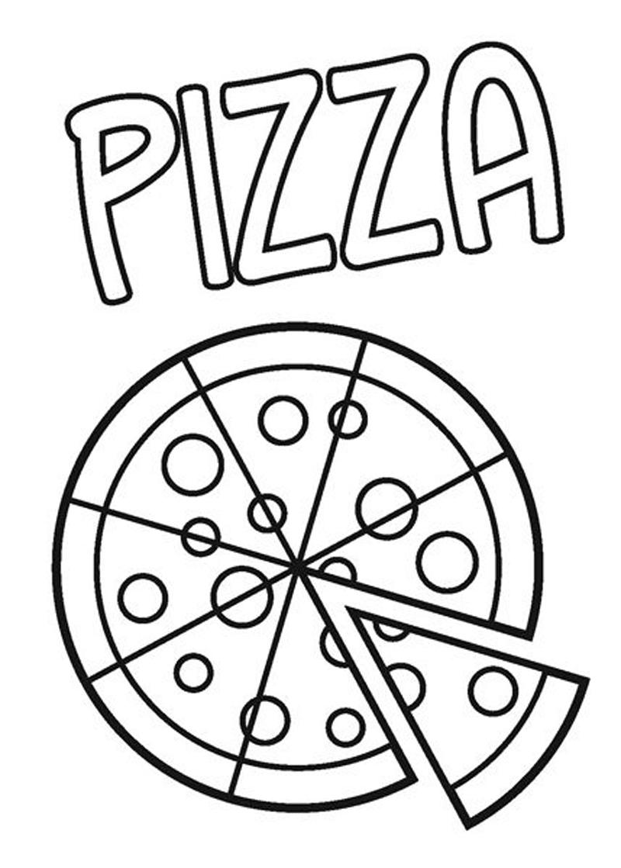 Gambar Mewarnai Pizza Untuk Anak Paud Dan Tk