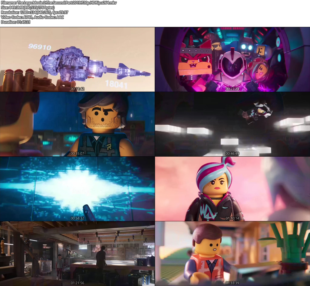 The Lego Movie 2 The Second Part 2019 720p HDRip x264 | 480p 300MB | 100MB HEVC Screenshot