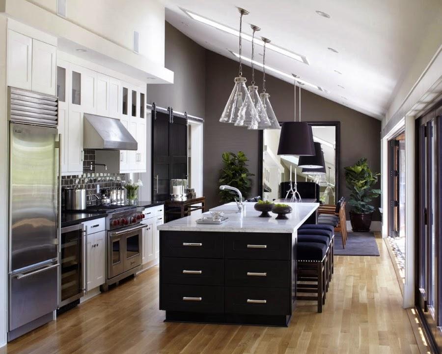 Dom w Kalifornii ze składaną, szklaną ścianą, wystrój wnętrz, wnętrza, urządzanie domu, dekoracje wnętrz, aranżacja wnętrz, inspiracje wnętrz,interior design , dom i wnętrze, aranżacja mieszkania, modne wnętrza, styl klasyczny, styl Hampton, kuchnia, projekt kuchni, kitchen, nowoczesna kuchnia