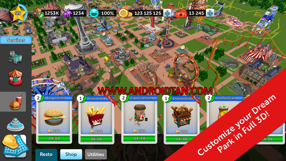 Free Download RollerCoaster Tycoon Touch Mod Apk v2.8.0 Unlimited Money Android Latest Version Terbaru 2019