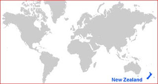 Gambar Peta letak Selandia Baru