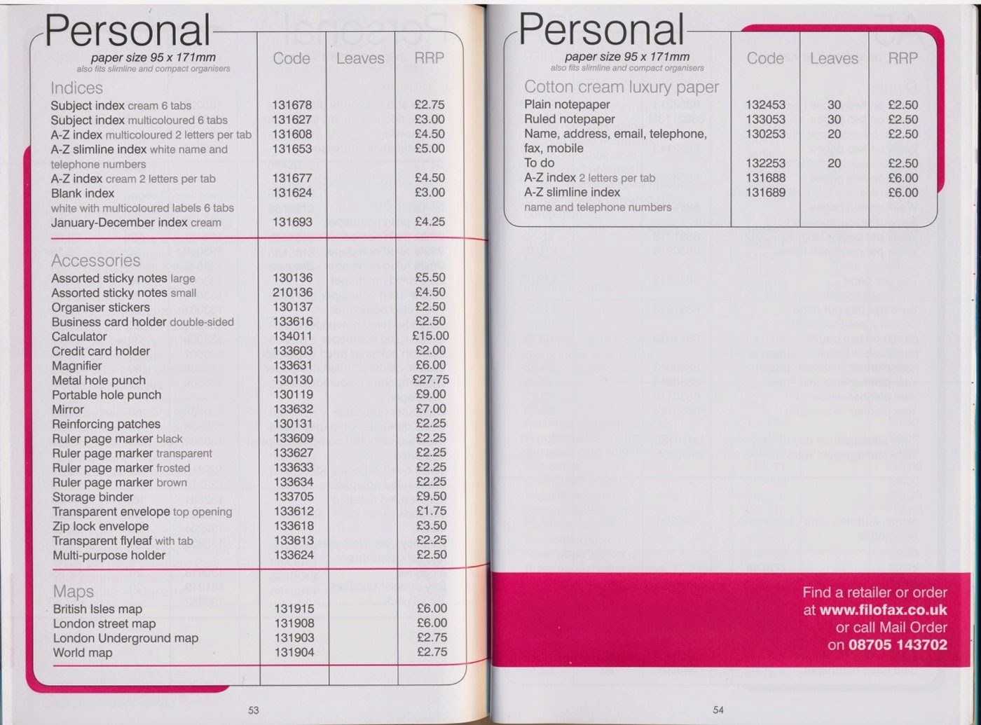 Philofaxy Filofax Uk 2012 13 Catalogue Name Cards Holder Binder 6214 And You Can Find Higher Resolutions Of These Scans On Flickr
