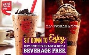 CCD Beverages Buy 1 Get 1 Free + Rs. 4 Cashback Rs. 40 – NearBuy