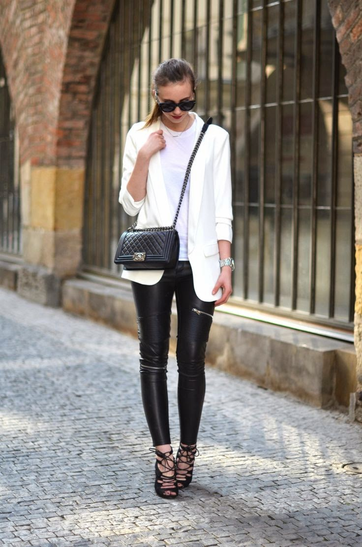 vogue haus black and white monochrome outfit chanel boy bag