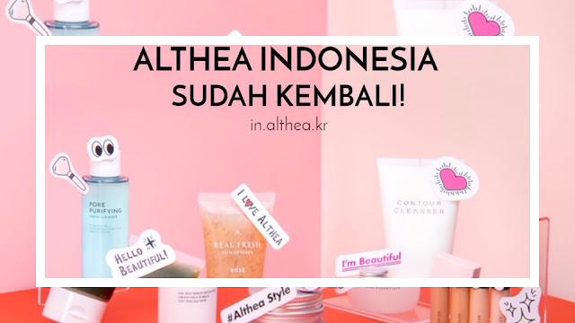 Althea Indonesia Kembali Lagi! Dengan Website Terbaru dan Bisa COD