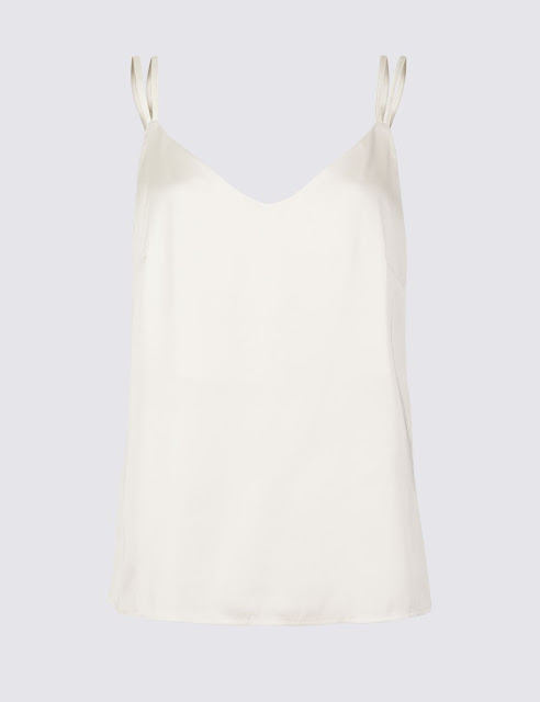 marks and spencer satin v neck vest top
