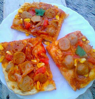 pizza bakso