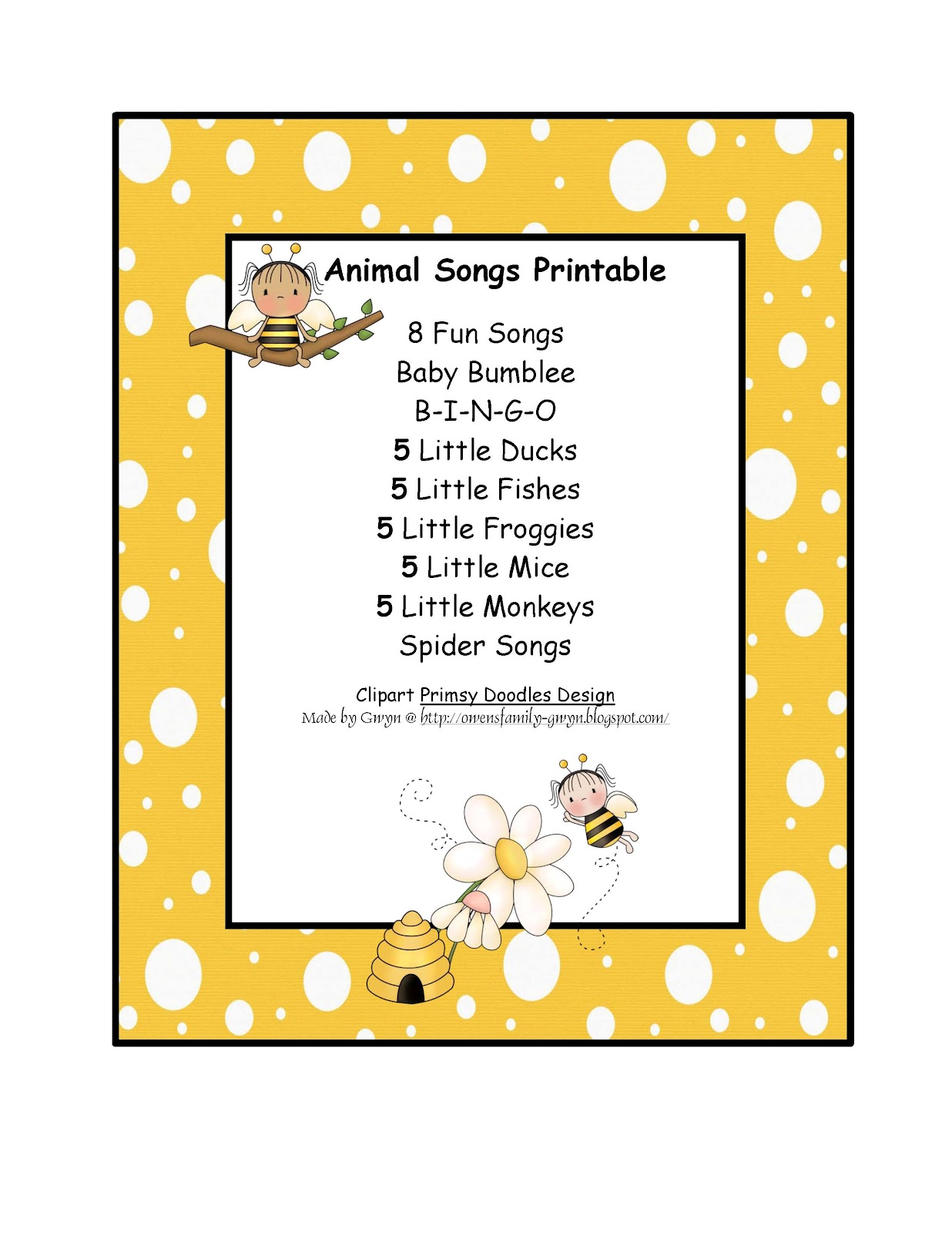 Preschool Printables July 2012