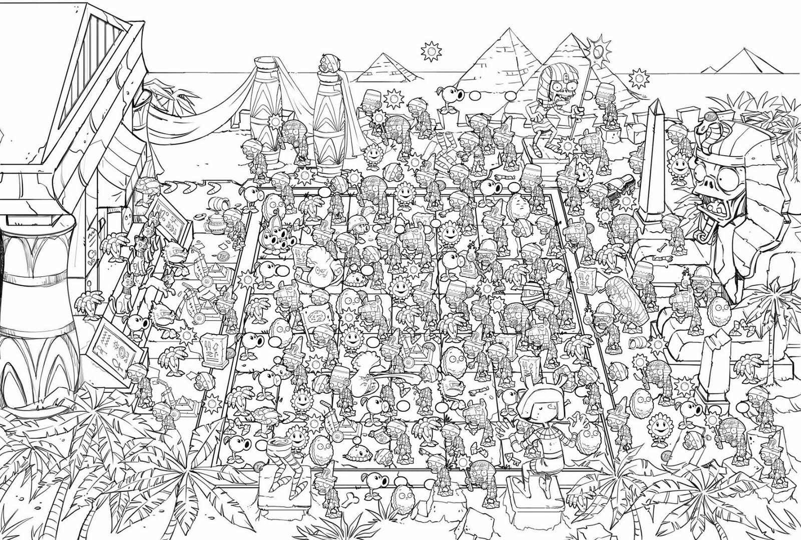 Libro Para Colorear Pvz 2: Jorge Santillan Dibujante: Plants Vs Zombies