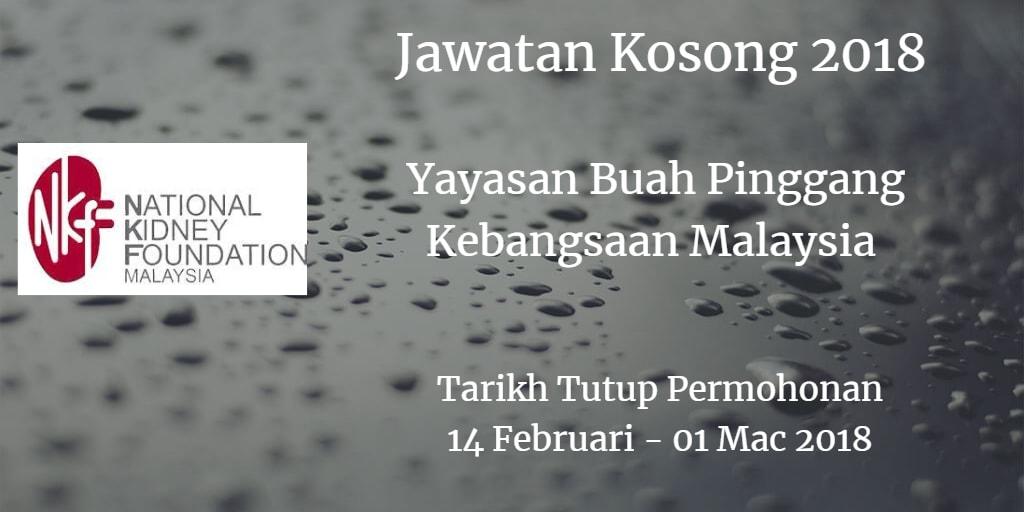 Jawatan Kosong NKF 14 Februari - 01 Mac 2018