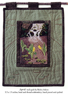 Robin Atkins, beaded quilt, April