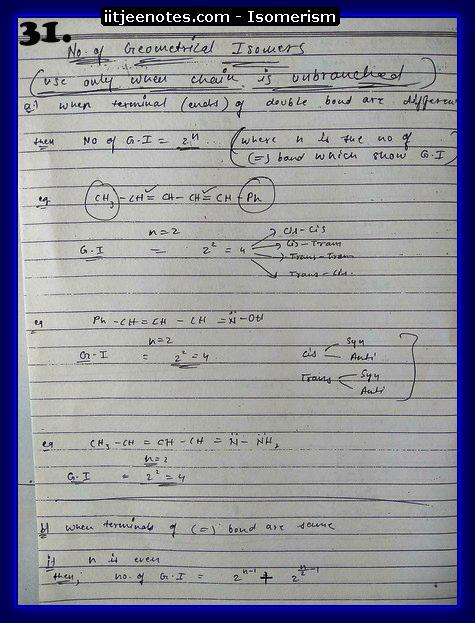 Isomerism Notes14