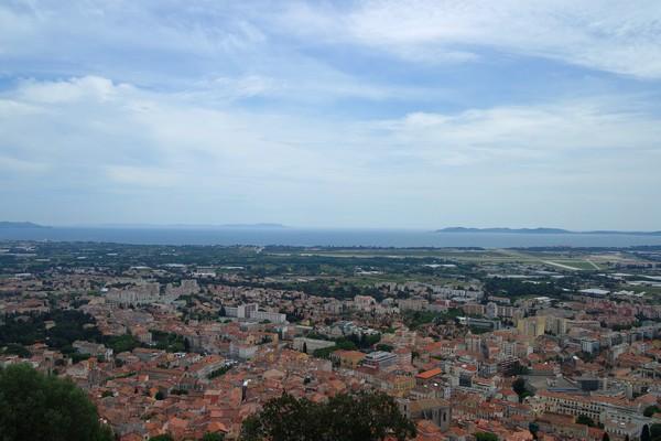 hyères var ville haute vieille médiéval moyen âge château vue