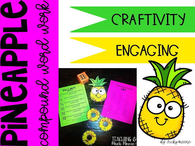 compound word pineapple craftivity