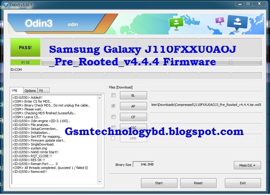 firmware j110f